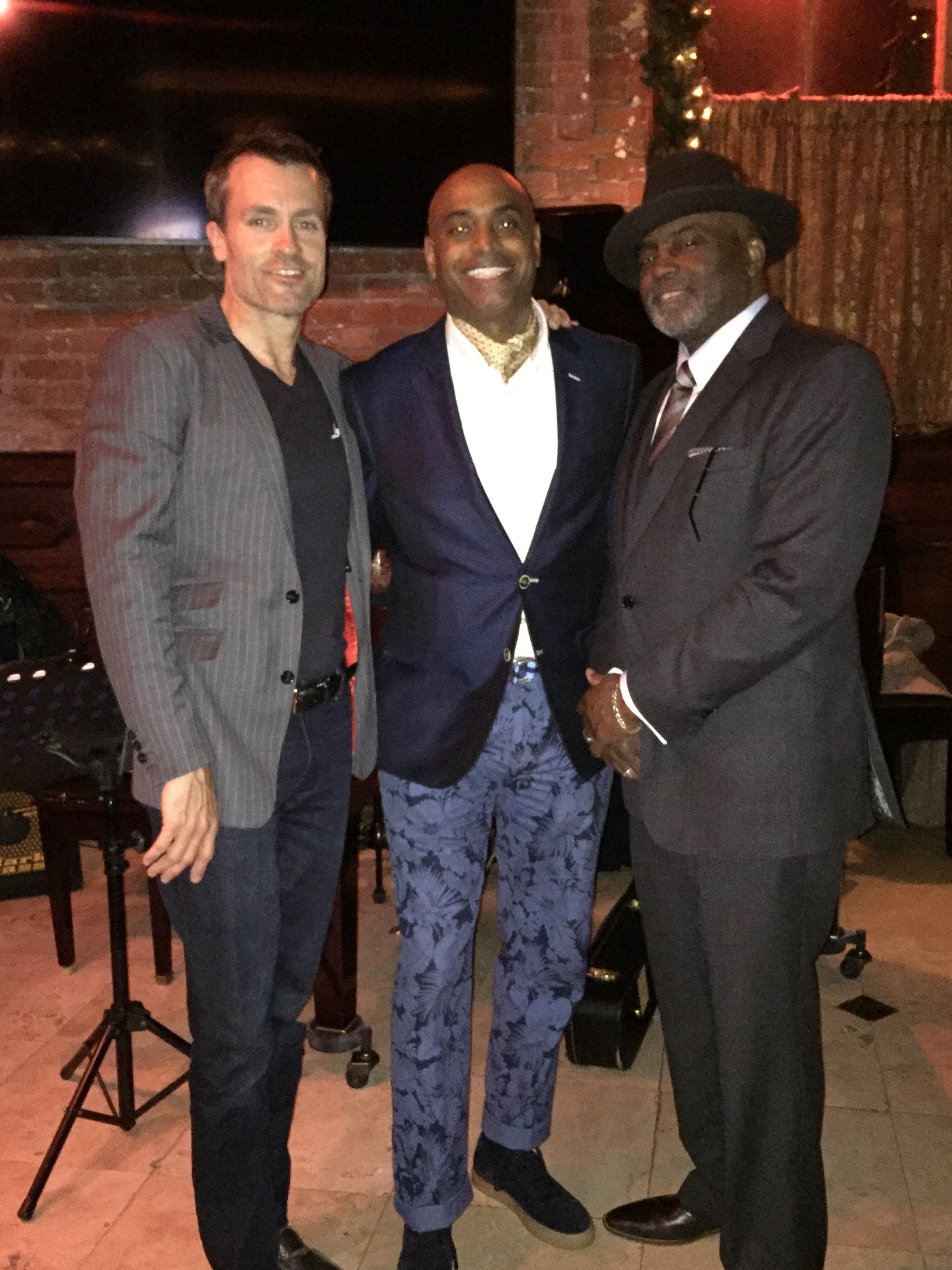 Paulie Piano, Jonny Styles and Dapper Don representing Luca Falcone Custom Clothiers!